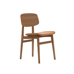 NY11 Dining Chair, Smoked - Vintage Leather Cognac | Sillas | NORR11