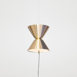 Aureole Brass | Suspended lights | Daniel Becker Studio