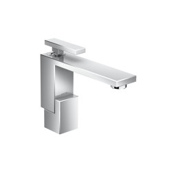 AXOR Edge | Single lever basin mixer 130 with push-open waste set | Wash basin taps | AXOR