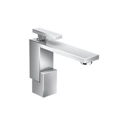 AXOR Edge | Single lever basin mixer 130 with push-open waste set - diamond cut | Wash basin taps | AXOR