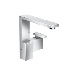 AXOR Edge | Single lever basin mixer 190 with push-open waste set | Wash basin taps | AXOR
