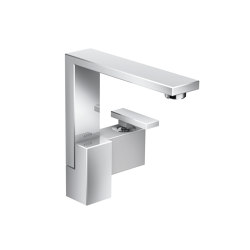 AXOR Edge | Single lever basin mixer 190 with push-open waste set - diamond cut | Wash basin taps | AXOR