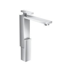 AXOR Edge | Single lever basin mixer 280 with push-open waste set | Wash basin taps | AXOR