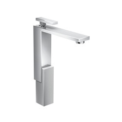 AXOR Edge | Single lever basin mixer 280 with push-open waste set - diamond cut | Wash basin taps | AXOR