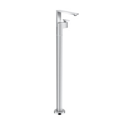 AXOR Edge | Single lever basin mixer floor-standing with push-open waste set | Bath taps | AXOR
