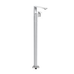 AXOR Edge | Single lever basin mixer floor-standing with push-open waste set - diamond cut | Rubinetteria vasche | AXOR