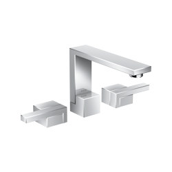 AXOR Edge | 3-hole basin mixer with push-open waste set | Wash basin taps | AXOR