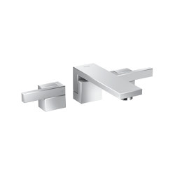 AXOR Edge | 3-hole basin mixer for concealed installation wall-mounted - diamond cut | Wash basin taps | AXOR