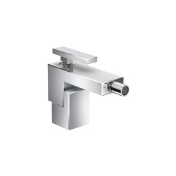 AXOR Edge | Single lever bidet mixer with push-open waste set | Wash basin taps | AXOR