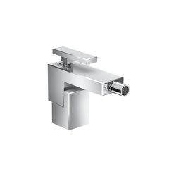 AXOR Edge | Single lever bidet mixer with push-open waste set | Grifería para lavabos | AXOR