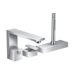AXOR Edge | 3-hole rim mounted single lever bath mixer | Wash basin taps | AXOR
