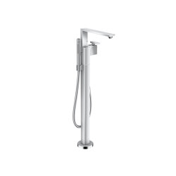 AXOR Edge | Single lever bath mixer floor-standing - diamond cut | Bath taps | AXOR