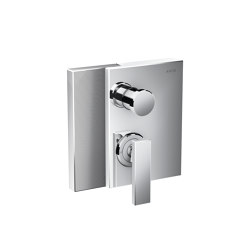 AXOR Edge | Single lever bath mixer for concealed installation with integrated security combination according to EN1717 - diamond cut | Shower controls | AXOR