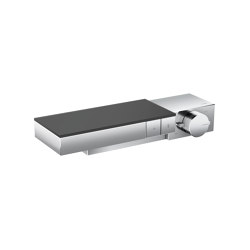 AXOR Edge | Thermostat for 2 functions for exposed/concealed installation - diamond cut | Shower controls | AXOR