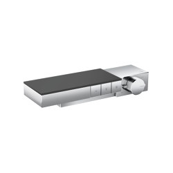 AXOR Edge | Thermostat for 3 functions for exposed/concealed installation - diamond cut | Shower controls | AXOR