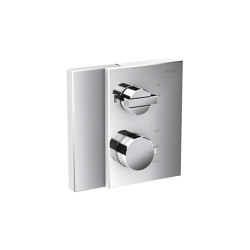 AXOR Edge | Thermostat with shut-off valve for concealed installation | Shower controls | AXOR