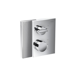 AXOR Edge | Thermostat with shut-off valve for concealed installation - diamond cut | Shower controls | AXOR