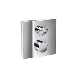 AXOR Edge | Thermostat with shut-off valve for concealed installation - diamond cut | Rubinetteria doccia | AXOR
