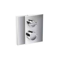 AXOR Edge | Thermostat with shut-off valve/diventer valve for concealed installation | Robinetterie de douche | AXOR