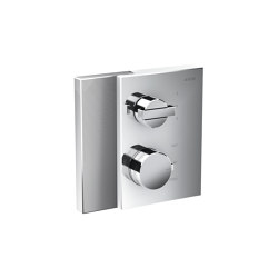 AXOR Edge | Thermostat with shut-off valve/diventer valve for concealed installation - diamond cut | Shower controls | AXOR
