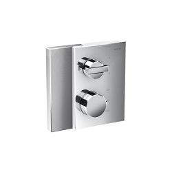 AXOR Edge | Thermostat with shut-off valve/diventer valve for concealed installation - diamond cut | Rubinetteria doccia | AXOR