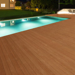 Ecolegno Decking round hole | Wood flooring | Saimex