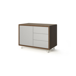 Credenza - 1 door 3 drawers with wire feet | Credenze | Boss Design