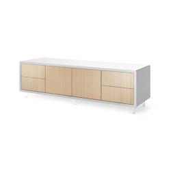 Credenza - 2 door 4 drawer on wire feet | Sideboards | Boss Design