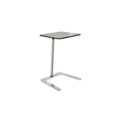 Flamingo Static table, Chrome frame with rectangular top | Side tables | Boss Design