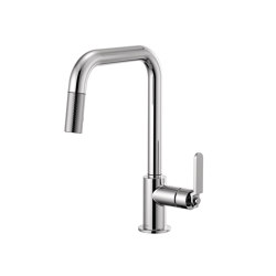 Pull-Down Faucet with Square Spout and Industrial Handle | Kitchen taps | Brizo