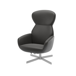Athena Lounge Chair 1370 with reclining back function and swivel base | Armchairs | BoConcept