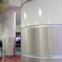 Decorative Round Steel Column Covers in McCarran Airport | Lamiere metallo | Moz Designs