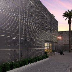 Exterior Applications - Lines Laser Cut Wall | Lamiere metallo | Moz Designs