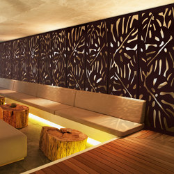 Exterior Applications - Tropical Laser Cut Wall | Sheets | Moz Designs