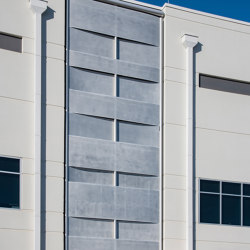 Exterior Applications - Perforated Weave Wall in Clear Finish | Lamiere metallo | Moz Designs