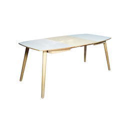 Extendable dinner table NAM-NAM 90x120/180 | Tables de repas | Radis Furniture
