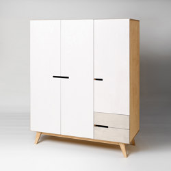 Wardrobe HUH with 3 doors and 2 drawers | Cabinets | Radis Furniture