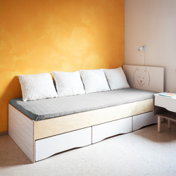 Bed MUSTER 90x200cm with 3 drawers | Beds | Radis Furniture