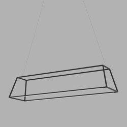 "Z-Bar Pendant Rise Rectangle - Matte Black 38"" | Pendelleuchten | Koncept"