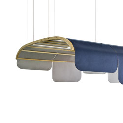 Tartana Acoustic Dome With Leds | Sound absorbing suspended panels | Sancal