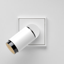 Plug & Light | LS 990 LED Spotlight white | Lampade parete | JUNG