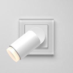 Plug & Light | A creation LED Spotlight soft white glass | Lámparas de pared | JUNG