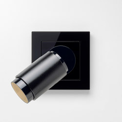 Plug & Light | A creation LED Spotlight black | Lámparas de pared | JUNG