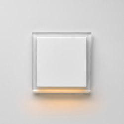 Plug & Light | A creation LED-Wall luminaire white glass | Wall lights | JUNG