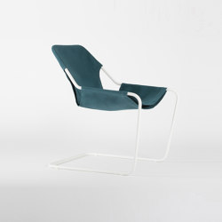 Paulistano Canvas - White/Turquoise | Armchairs | Objekto
