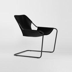 Paulistano Leather - Black/BlackMatt | Armchairs | Objekto