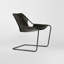 Paulistano Leather - Black/Macassar | Armchairs | Objekto