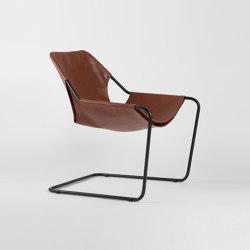 Paulistano Leather - Black/Terracotta | Armchairs | Objekto