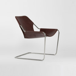 Paulistano Leather - Inox/Cognac | Armchairs | Objekto