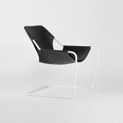 Paulistano Leather - White/Black | Armchairs | Objekto